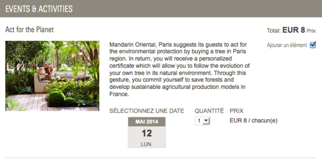 Mandarin Oriental Paris : encore plus pour la planète !
