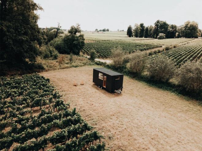 Une nuit en Tiny House au milieu des vignobles de Saint-Émilion