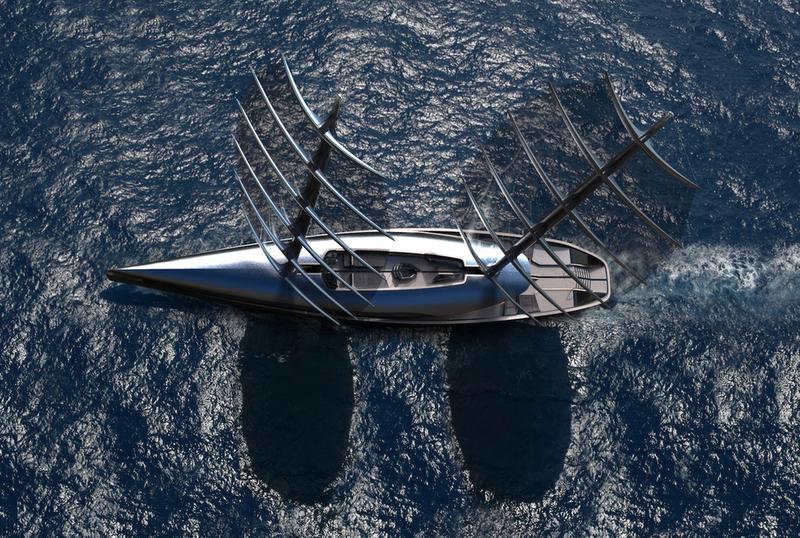 Yacht Cauta : des voiles inspirées par les ailes de l'Albatros