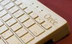 Orée invente le premier clavier bluetooth en bois pour tablettes