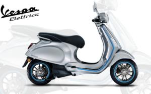 Premier test du scooter electrique Vespa Elettrica